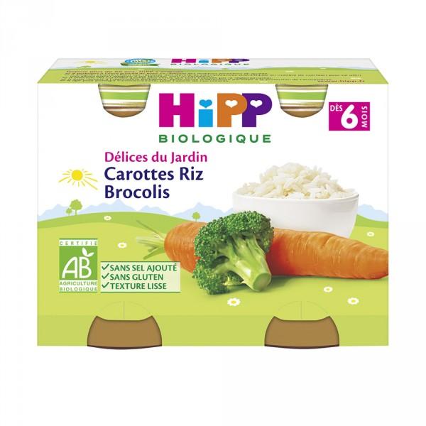 Petits pots carottes riz brocolis Hipp