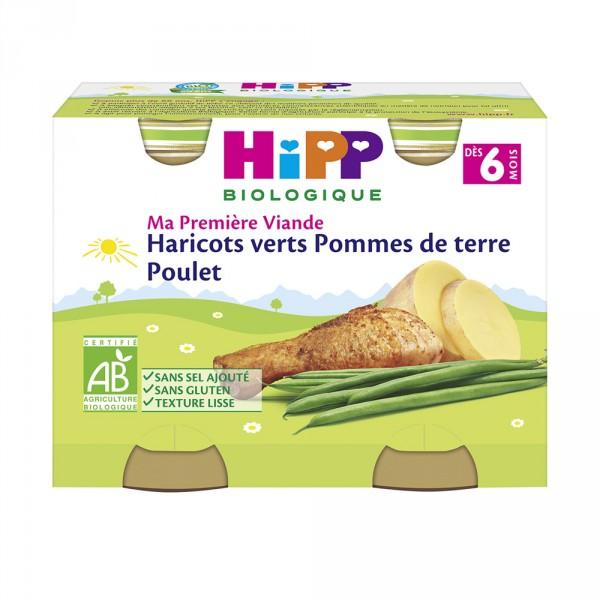 Petit pots haricots verts pommes de terre poulet Hipp