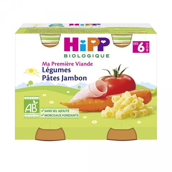 Petits pots légumes pâtes jambon Hipp