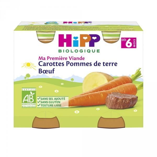 Petits pots carottes pommes de terre boeuf Hipp