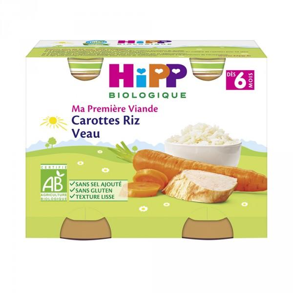 Petits pots carottes riz veau Hipp