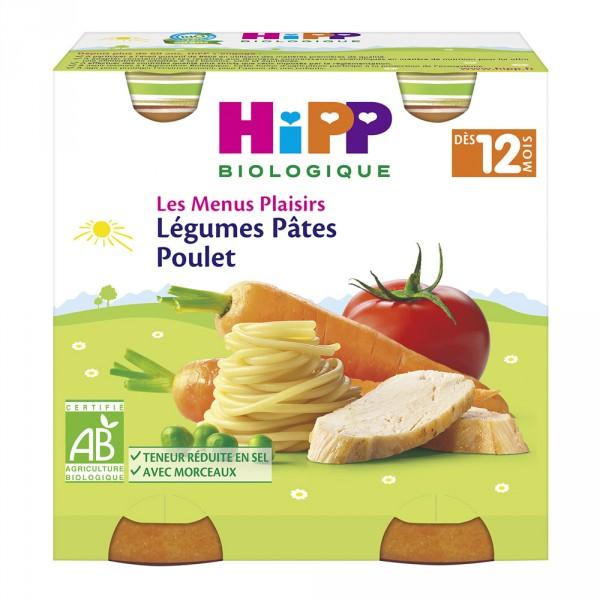 Légumes pâtes poulet 250g dès 12 mois Hipp