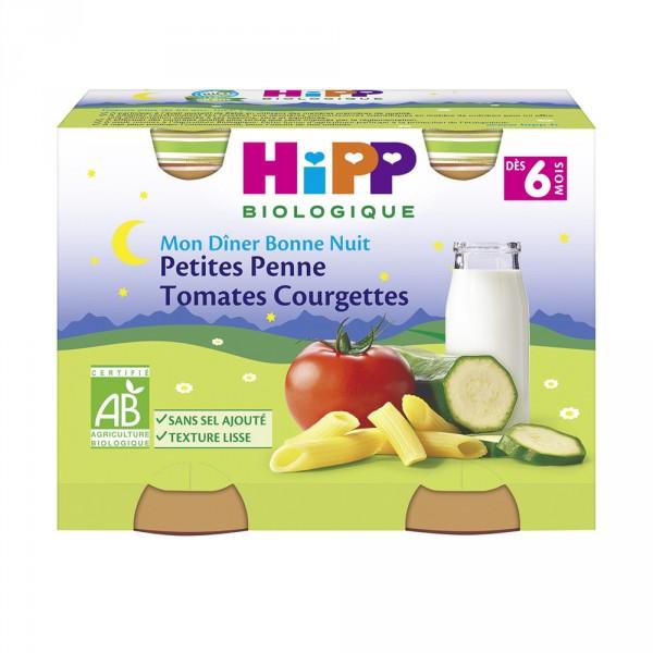 Petits pots petites pennes tomates courgettes Hipp