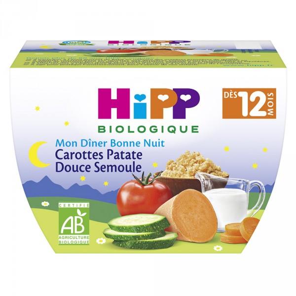 Bol carottes patate douce semoule Hipp