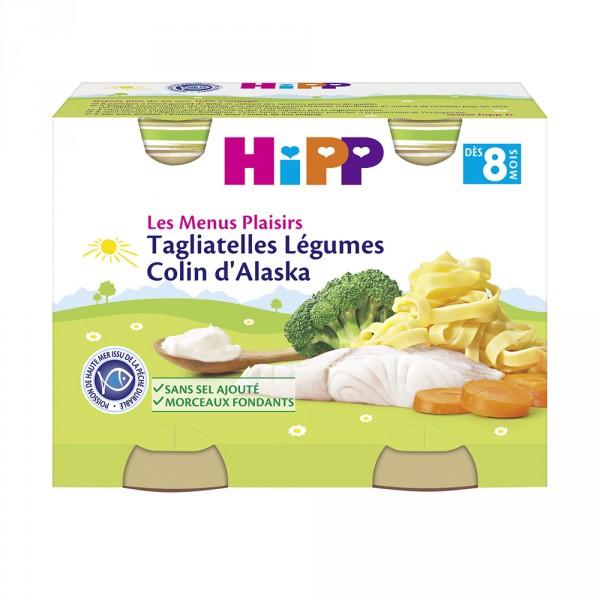 Tagliatelles légumes colin d'alaska 190g dès 8 mois Hipp
