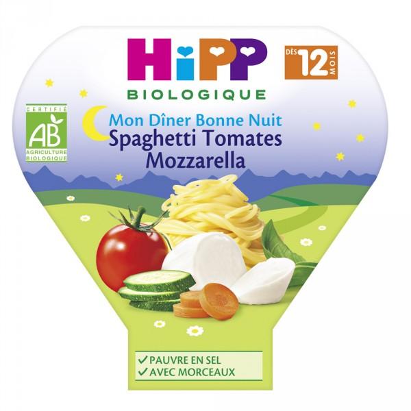 Assiette spaghetti tomates mozzarella 230 g Hipp