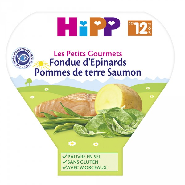 Fondue d'épinards pommes de terre saumon 230 g dès 12 mois Hipp