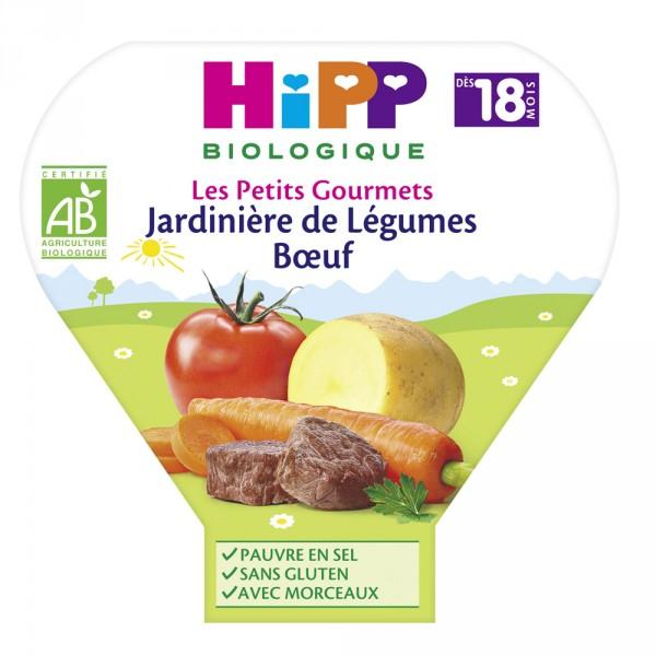 Jardinière de légumes au boeuf 260g dès 18 mois Hipp