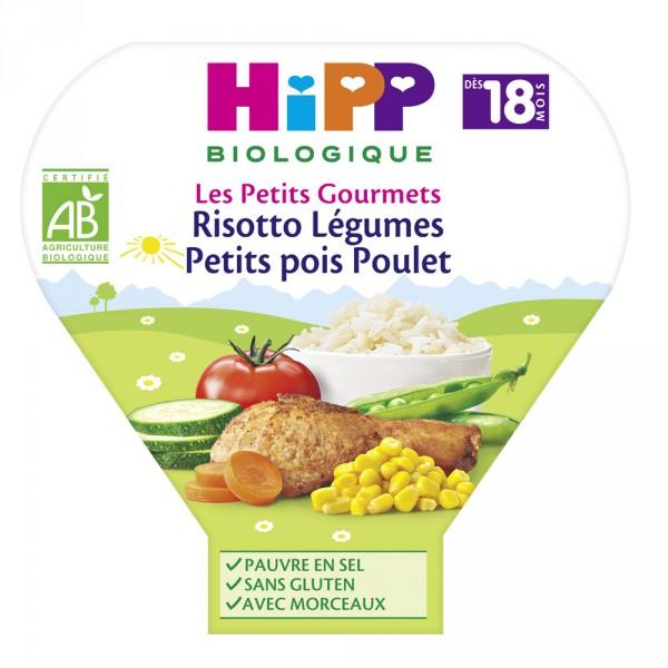 Risotto de poulet aux 5 légumes 260 g dès 15 mois Hipp