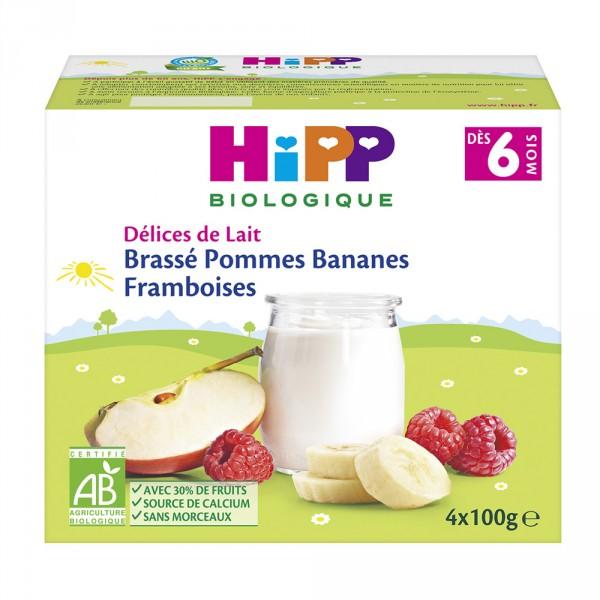 Brassé pommes bananes framboises 4x100 g dès 6 mois Hipp