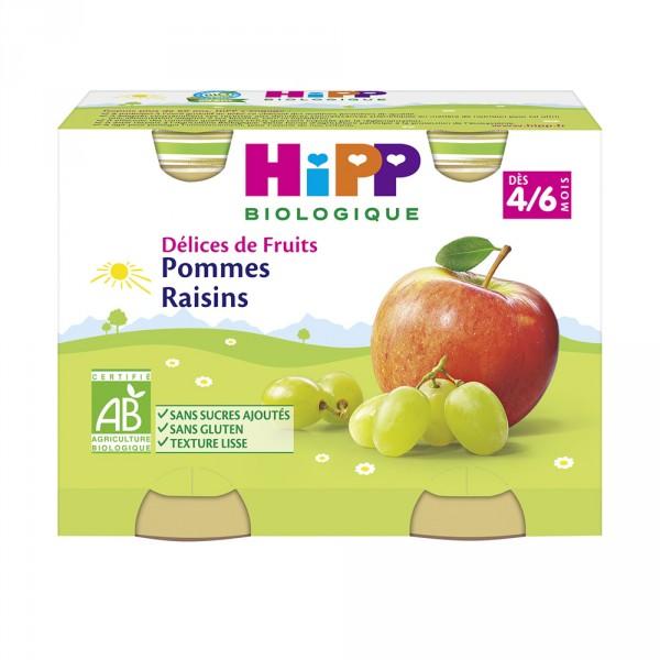 Pommes raisins 190g dès 4 mois Hipp