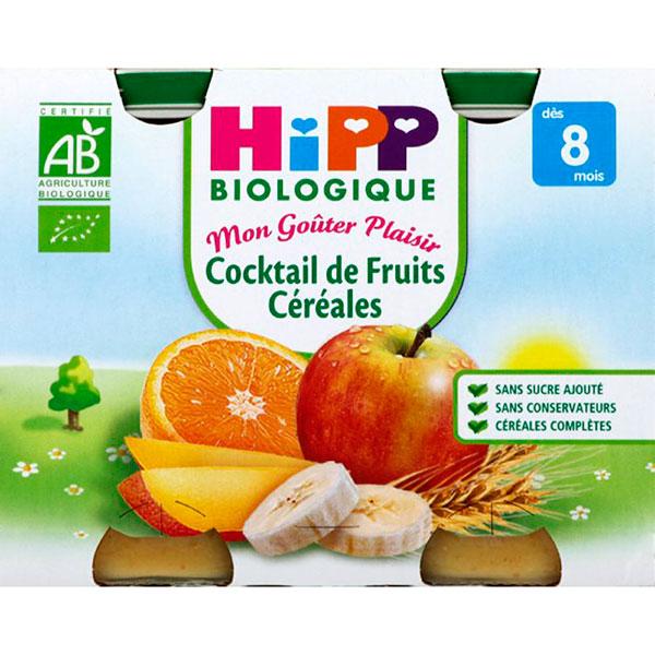 Cocktail de fruits céréales 190 g dès 8 mois Hipp