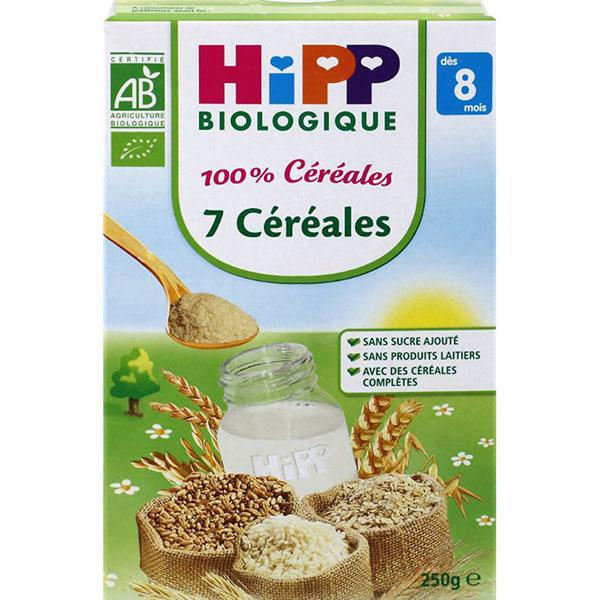 Petits déjeuners 100% céréales 7 céréales 250 g dès 8 mois Hipp