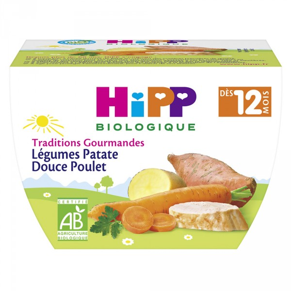 Bol légumes patate douce poulet Hipp