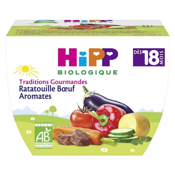 Bol ratatouille boeuf aromates 250 g Hipp