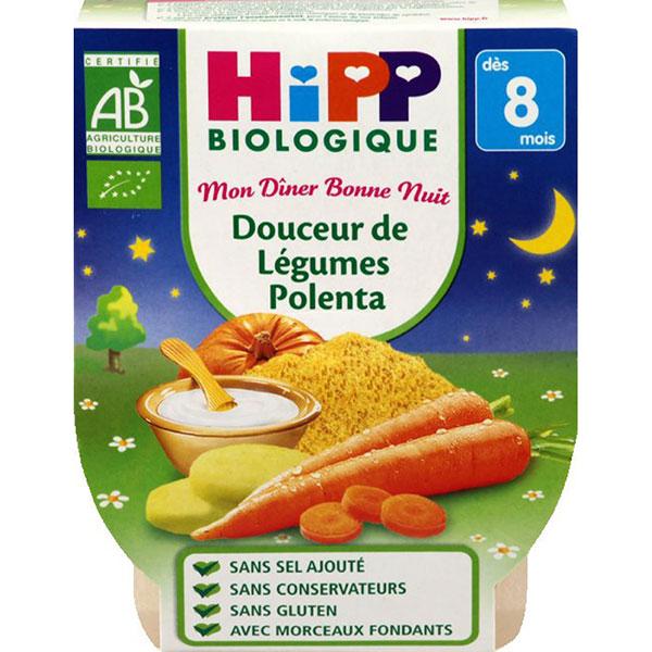 Bols douceur de légumes polenta Hipp
