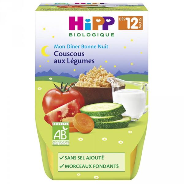 Bols couscous aux légumes 2x 220 g Hipp