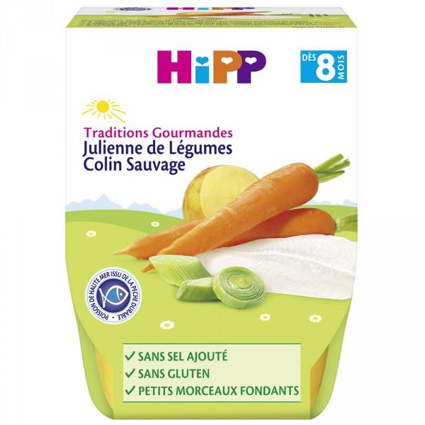 Bols julienne de légumes colin sauvage 2 x 190 g Hipp