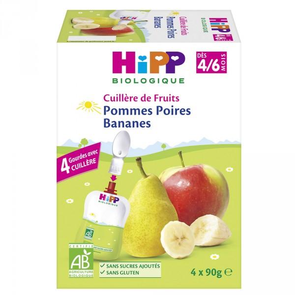 Gourde pommes poires bananes 4 x 90 g Hipp