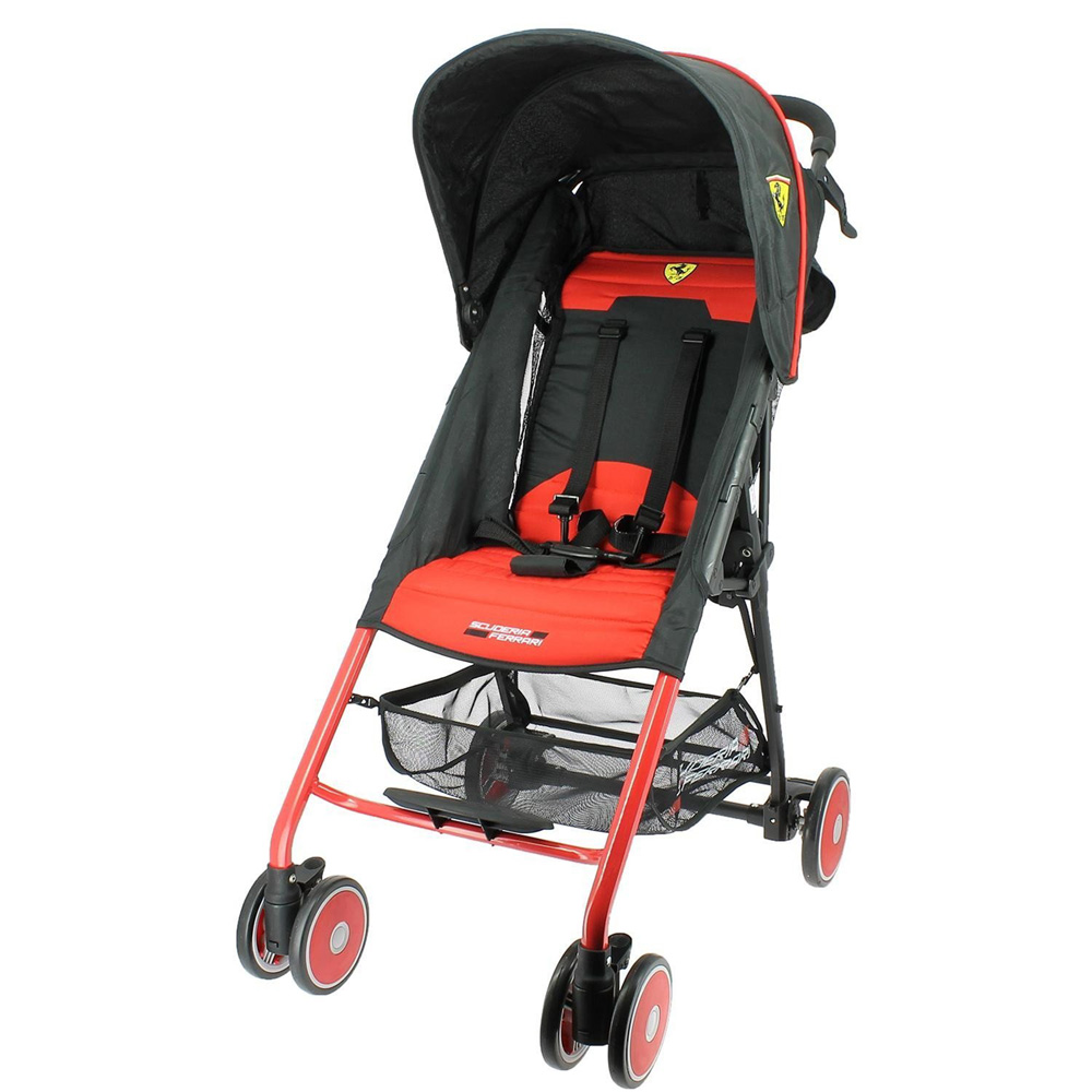 Poussette canne ferrari f11 rouge de nania sur allob b - Poussette canne legere inclinable ...
