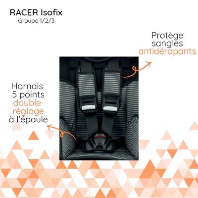 Siège auto isofix racer - groupe 1/2/3 Nania