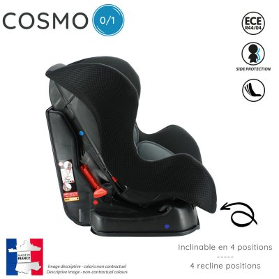 Siège auto cosmo luxe gris - groupe 0/1 Nania