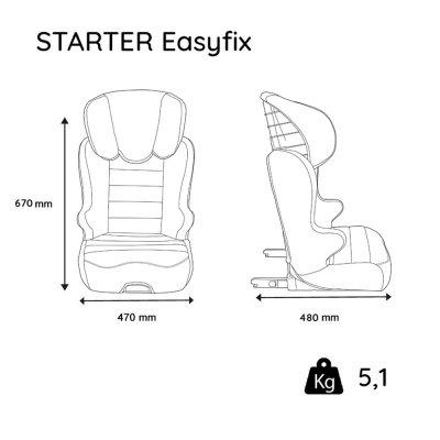 Siège auto easyfix starter - groupe 2/3 Nania