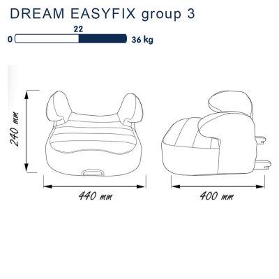 Rehausseur dream easyfix luxe gris - groupe 3 Nania
