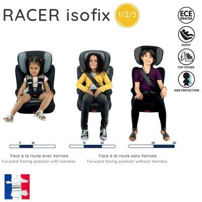 Siège auto racer isofix london - groupe 1/2/3 Nania