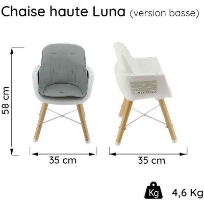 Chaise haute évolutive luna 2 en 1 noir / camel Nania