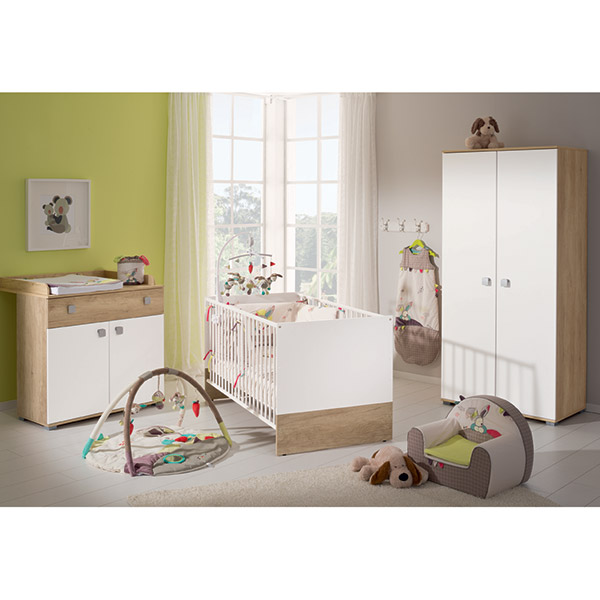 Chambre b b trio nanou armoire 2 portes de paidi en vente - Armoire chambre bebe ...