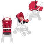 Accessoire system zippy rouge (nacelle + coque + hamac + kit auto) pas cher