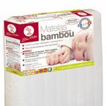 Matelas bébé viscose bambou 60 x 120 cm pas cher
