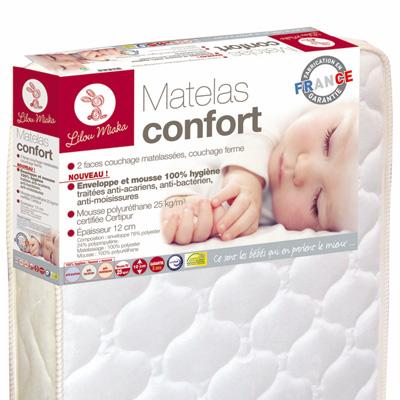 Matelas bébé confort 60 x 120 cm Lilou miaka