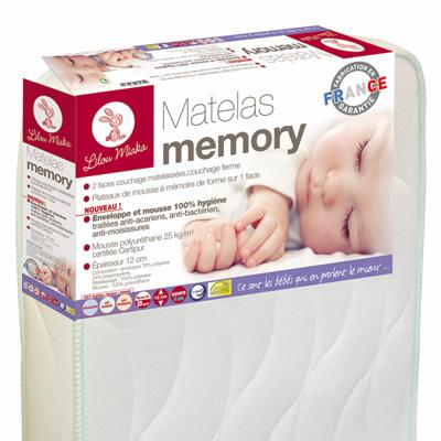 Matelas bébé memory 60 x 120 cm Lilou miaka