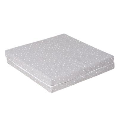 matelas de voyage b b pliant imprim blanc gris 60 x 120 cm 10 sur allob b. Black Bedroom Furniture Sets. Home Design Ideas