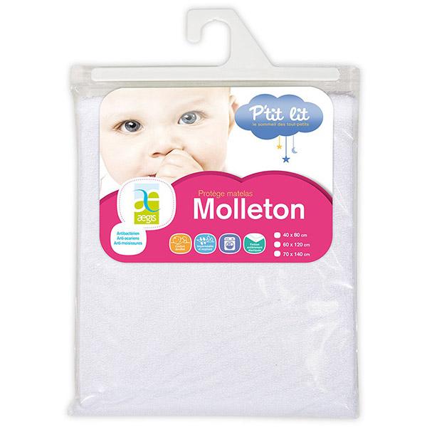 Prot ge matelas molleton aegis 70 x 140 cm 5 sur allob b - Protege matelas molleton ...