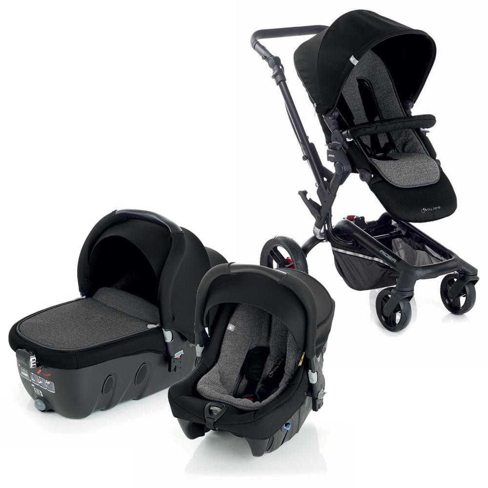 poussette combin trio rider avec transporter2 et strata crater de jane. Black Bedroom Furniture Sets. Home Design Ideas