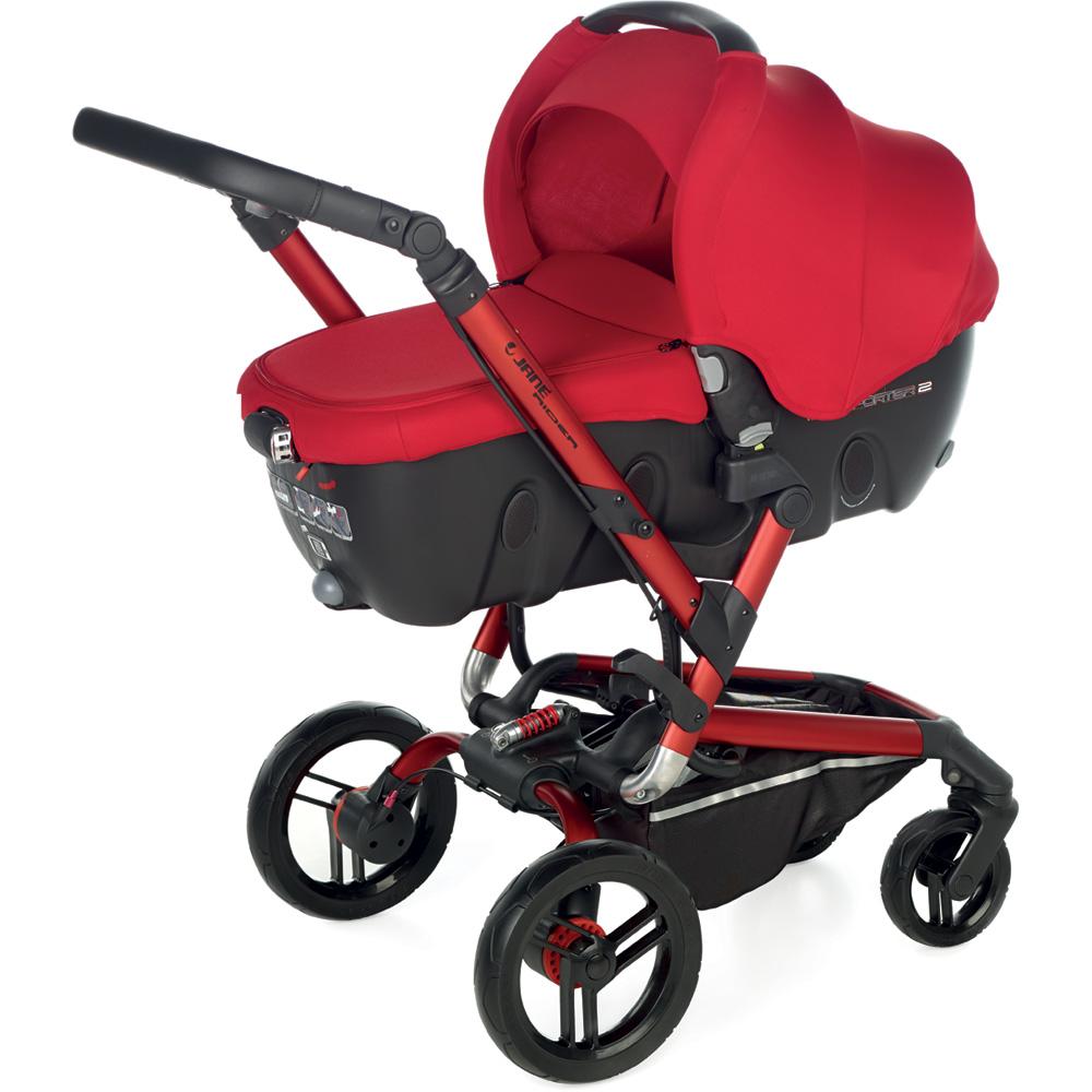 poussette trio rider avec transporter2 et koos i size red. Black Bedroom Furniture Sets. Home Design Ideas