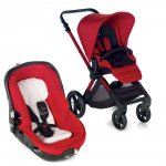 Poussette duo muum avec matrix light 2 red