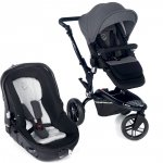 Poussette duo trider avec matrix light 2 jet black