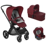 Pack poussette trio muum avec micro et koos i-size red being