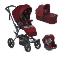 Pack poussette trio crosswalk r avec micro et koos i-size red being
