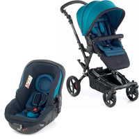 Poussette duo epic avec matrix light 2 teal