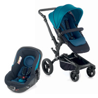 Poussette combiné duo rider avec matrix light 2 teal