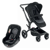 Pack poussette duo rider avec matrix light 2 black