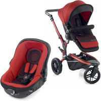 Pack poussette duo trider avec matrix light 2 red