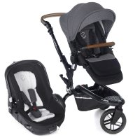 Pack poussette duo trider avec matrix light 2 jet black
