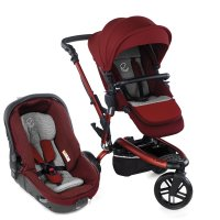 Pack poussette duo trider avec matrix light 2 red being