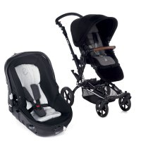 Poussette combiné duo epic avec matrix light 2 jet black